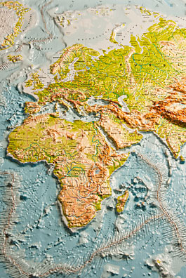 Relief maps get a feeling of geography relief map europe and africa gumiabroncs Gallery