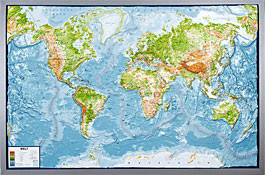 relief map world world map withelevation profile
