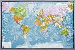 Relief Map Of The World.Relief Map World World Map Withelevation Profile